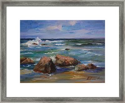 Pacific Ocean Framed Print by Kelvin  Lei