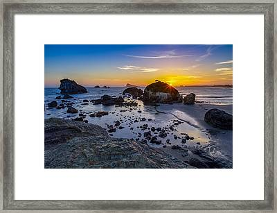 Pacific Ocean Northern California Sunset Framed Print by Scott McGuire