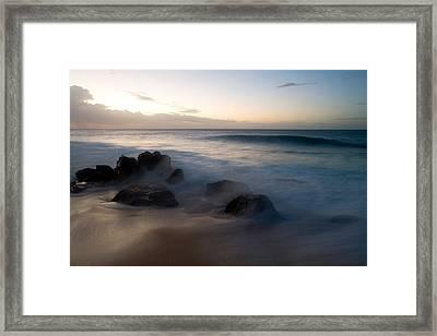 Pacific Ocean Power - Hawaii Framed Print by Brad Rickerby