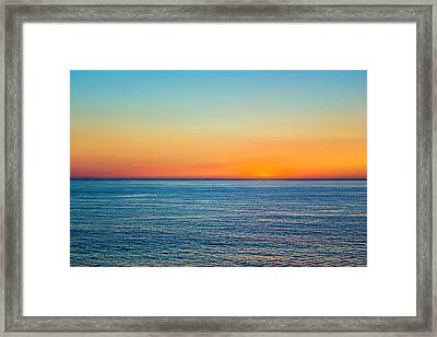 Pacific Ocean Sunset Framed Print by April Reppucci