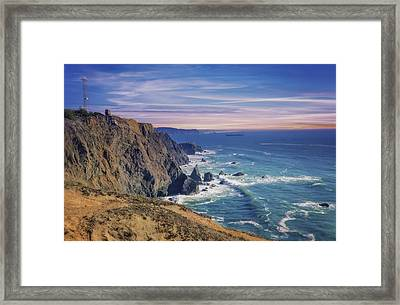 Pacific Ocean View Towards Point Bonita Lighthouse Framed Print by Jennifer Rondinelli Reilly - Fine Art Photography