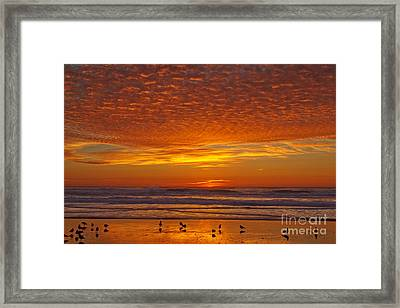 Pacific On Fire Framed Print