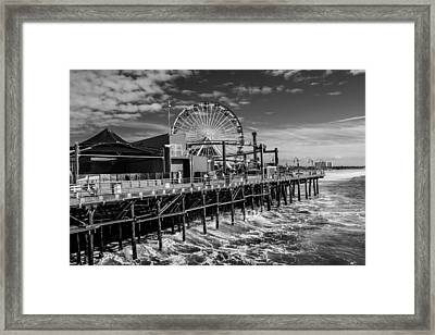 Pacific Park Bw Framed Print by Robert Hebert