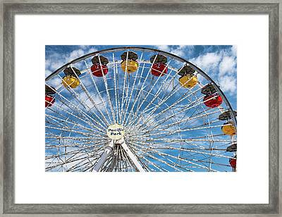 Pacific Park Ferris Wheel Framed Print