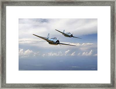 Pacific Patrol Framed Print by Peter Chilelli