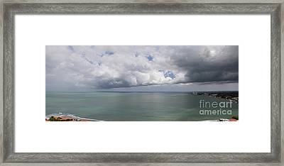 Pacific Storm Panorama Framed Print
