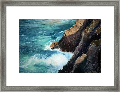 Pacific Sunrise Framed Print by Carl Capps