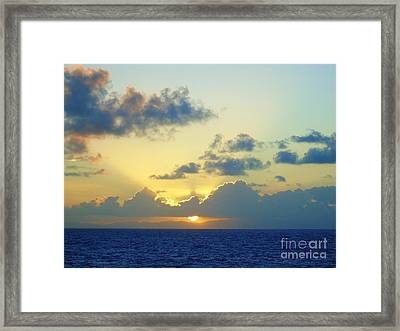 Pacific Sunrise, Japan Framed Print by Susan Lafleur