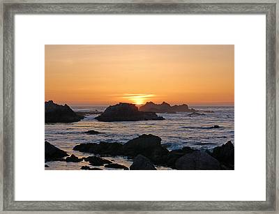 Pacific Sunset Framed Print by Pearson Photography