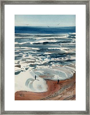 Pacific Surf Fishing Framed Print