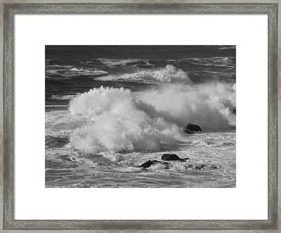 Pacific Surf Framed Print