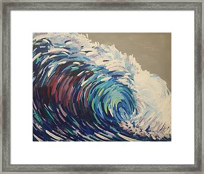 Pacific Wave Framed Print