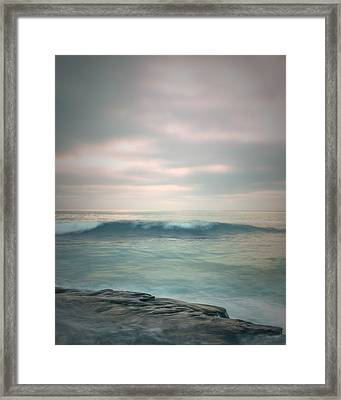 Pacific Wave Framed Print by Joseph Smith