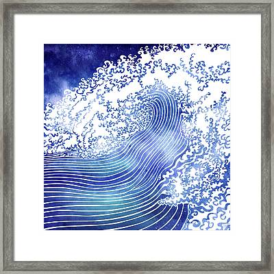 Pacific Waves II Framed Print