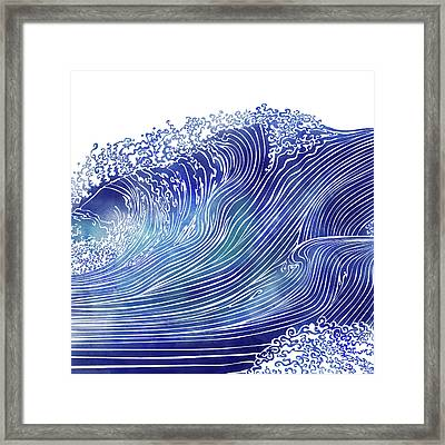 Pacific Waves Framed Print