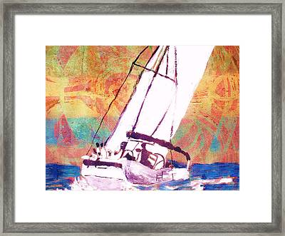 Pacific Wind Framed Print by Samuel Banks