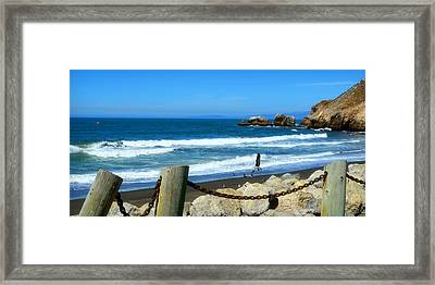 Framed Print featuring the photograph Pacifica Coast by Glenn McCarthy Art and Photography
