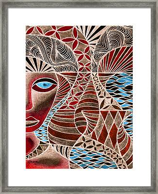 Pacifica Dreaming Framed Print by Meli Laddpeter