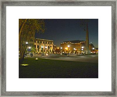Pack Square In Asheville Framed Print by Utopia Concepts