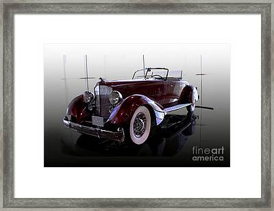 Packard Convertable Framed Print by Curt Johnson