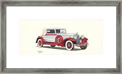 Packard Coupe Roadster 1932 Framed Print by John Kinsley