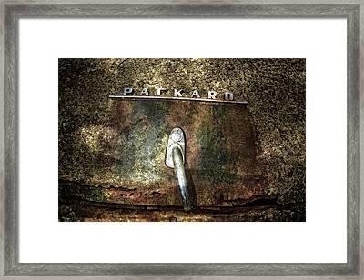 Packard Emblem Framed Print by Debra and Dave Vanderlaan