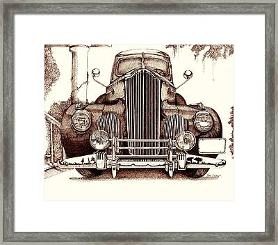 Packard Framed Print by Gary Galarza