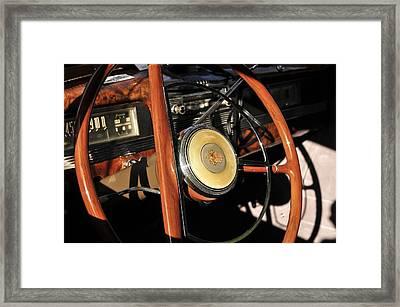 Packard Steering Wheel Framed Print by David Lee Thompson