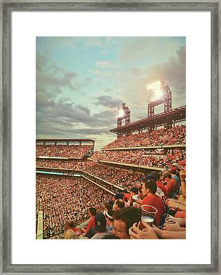 Packed Phull Of Phans Framed Print by JAMART Photography