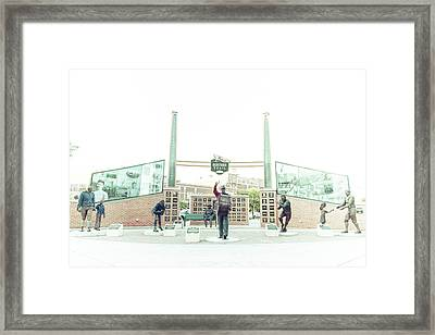 Framed Print featuring the photograph Packers Heritage Trail by Joel Witmeyer