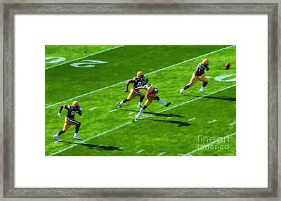 Packers Kick Framed Print