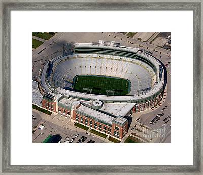 Packers Lambeau Field Framed Print by Bill Lang