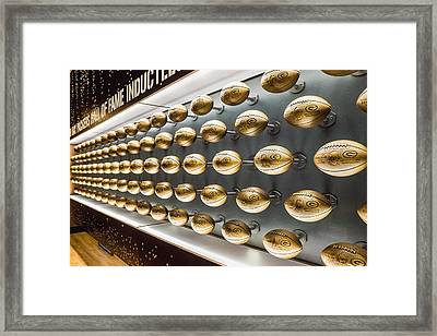 Packers Wall Of Fame Framed Print