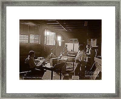 Framed Print featuring the photograph Packing Cigars Key West Florida by John Stephens