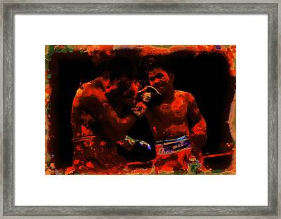 Pacquiao Putting In Work Framed Print