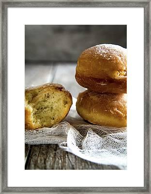 Paczki Doughnuts... A Polish Tradition Framed Print by Deborah Klubertanz