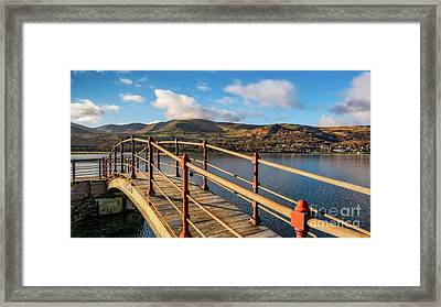 Padarn Lake Footbridge Framed Print