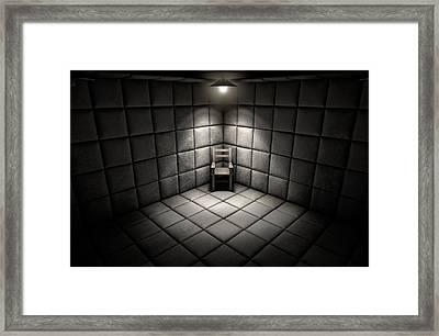 Padded Cell And Empty Chair Framed Print