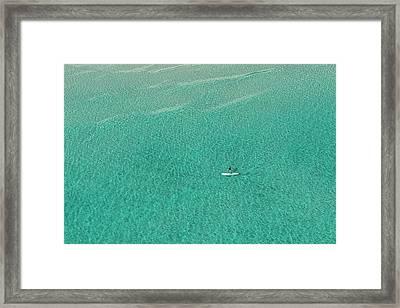 Paddle Board Solo Framed Print by Janet Fikar
