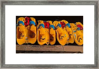 Paddle-boat Armada Framed Print