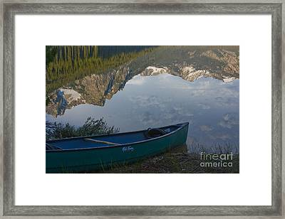 Paddle To The Mountains Framed Print by Idaho Scenic Images Linda Lantzy