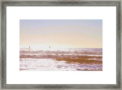 Paddleboarders Framed Print