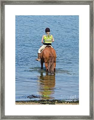 Paddling Horse Framed Print by Terri Waters