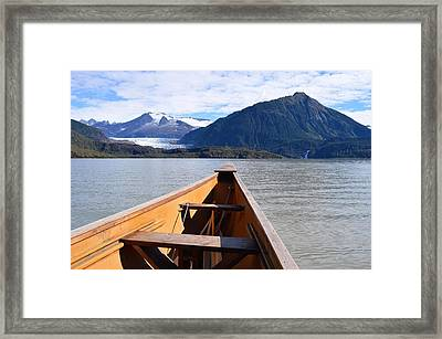 Paddling On Mendenhall Lake Framed Print