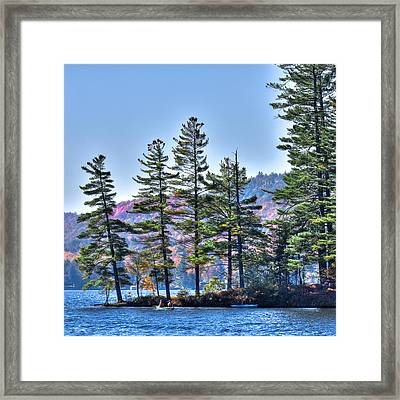 Paddling The Fulton Chain Of Lakes Framed Print