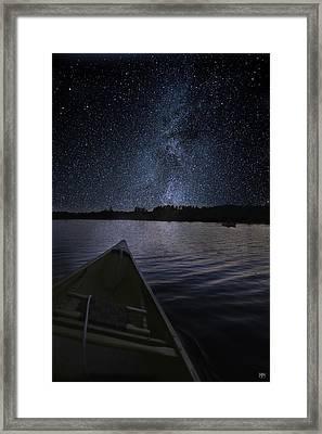 Paddling The Milky Way Framed Print
