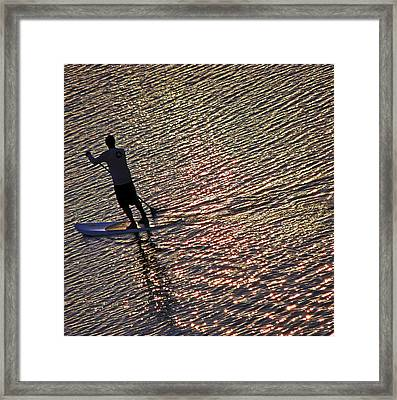 Paddling The Pacific Framed Print