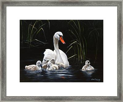 Paddling To A Different Drummer Framed Print by Rob Dreyer