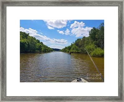 Paddling Up Crooked Creek Framed Print