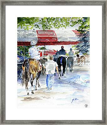Paddock To Post Framed Print by Parker JC